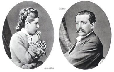 Berthe Adele Teilhard de Chardin with her husband, Emmanuel, parents of Pierre Teilhard de Chardin.
