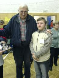 Jean Vanier and Friend