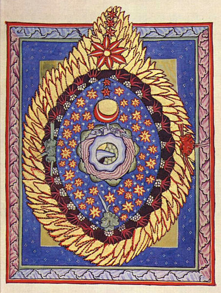 Illumination accompanying the third vision of Part I of Scivias