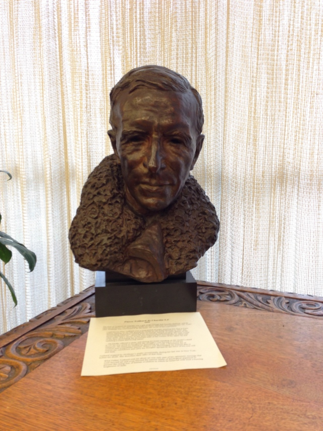 Bust of Teilhard de Chardin at Georgetown Library