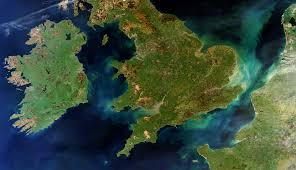 View of United Kingdom and Ireland from space. Note that there are no political borders, which is one of the many reasons I enjoy views from space.