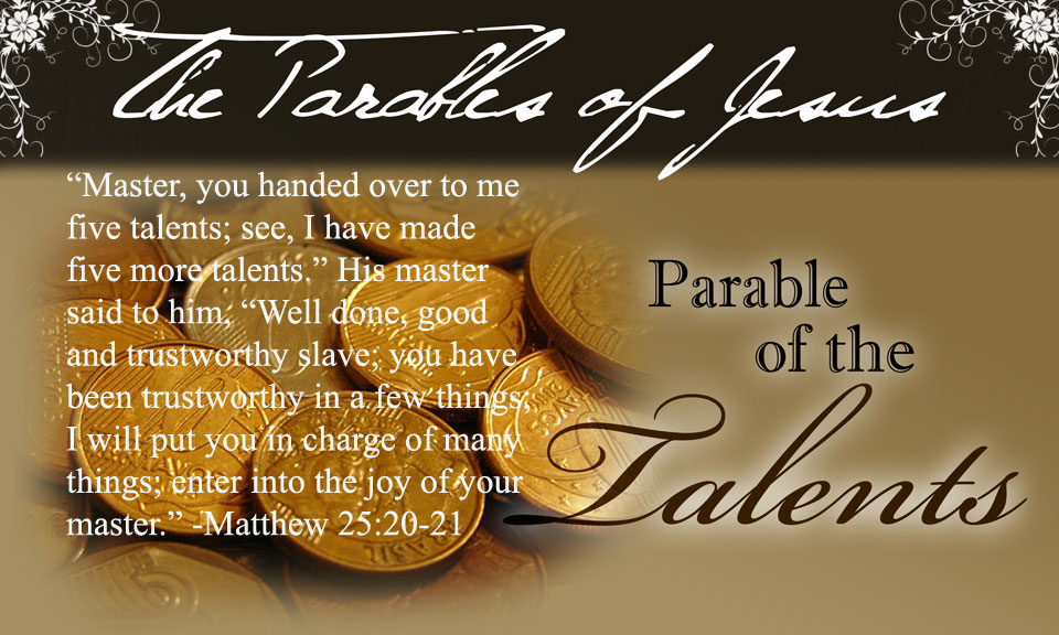 Image result for parable of the talents image